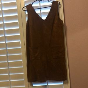 Soft brown dress with pockets